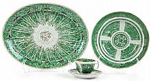 Four Pieces of Chinese Verte Export Porcelain