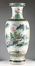 Chinese Porcelain Famille Verte Floor Vase