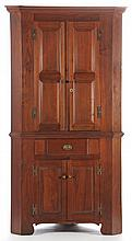 North Carolina Chippendale Corner Cupboard