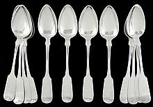 Set of (12) Maryland Related Coin Silver Spoons