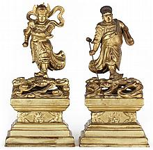 Pair of Chinese Guardian Figures