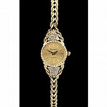 14KT Gold and Diamond Watch, Geneve