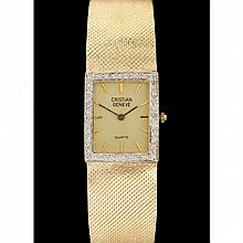 Lady's Gold and Diamond Watch, Cristian Geneve