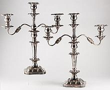 Pair of F.B. Rogers Silverplate Candelabra