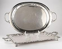 Two Silverplate Serving Trays