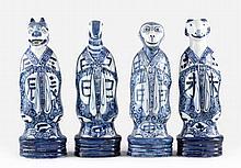 Four Chinese Sheng Xiao Figures