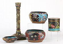 Five Pieces of Chinese Cloisonne