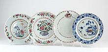 Group of Four Chinese Export Plates