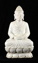 Marble Statue of a Seated Buddha