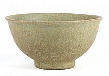 Chinese Celadon Crackleware Bowl
