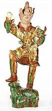 Sancai Glazed Figure of a Lokapala