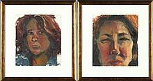 Gayle Stott Lowry (NC), Pair of Portraits