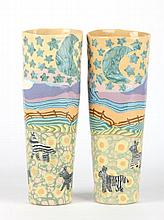 Jane Peiser (NC), Pair of Murrini Vases