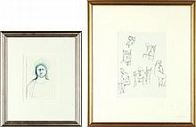 Two Drawings by A. B. Jackson & Claude Howell
