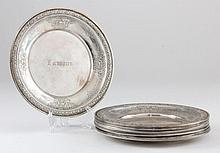 Set of Eight Gorham Sterling Silver Bread Plates