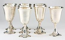 Set of Eight Gorham Sterling Silver Goblets