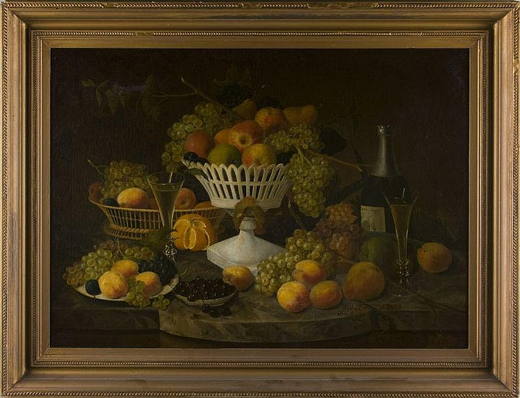 Paul Lacroix (NJ/NY, 1827-1869), Still Life