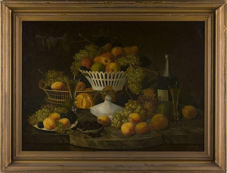 Paul Lacroix (NJ/NY, 1827-1869), Still Life