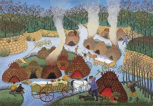 Ivan Rabuzin (1921 - 2008)克羅地亞藝術家,天真的藝術風格,原始樸素的藝術變化 。。。 - milk  - ☆ Milk ☆ 平平。淡淡。也是真。