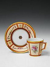 A Berlin KPM porcelain neoclassical cup.