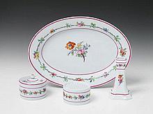 A Berlin KPM porcelain writing set.