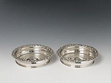 A pair of Berlin silver coasters. Marks of August Friedrich Lorenz Peters, 1821 - 42.