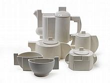 A white porcelain tea and coffee service.