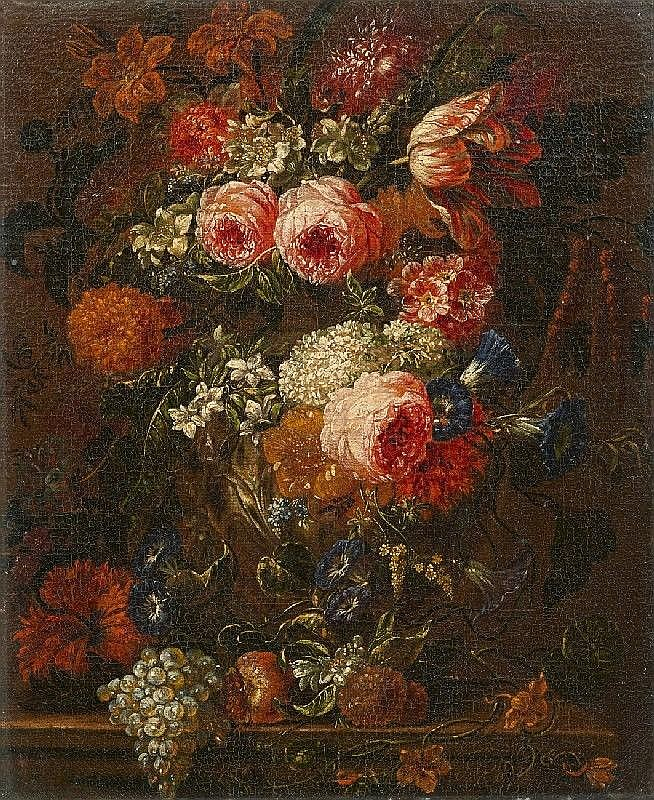 VERBRUGGEN THE YOUNGER, attributed to, STILL LIFE WITH FLOWERS AND FRUITS