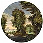 FLEMISH SCHOOL, WOODED LANDSCAPE WITH SHEPHERD