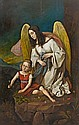 JOSEF VON FÜHRICH, LITTLE GIRL WITH GUARDIAN ANGEL