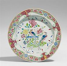 A famille rose plate. Qianlong period (1735-1796)