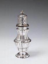 An Augsburg silver sugar caster. Marks attr. to Moritz Krelle, 1736 - 37.