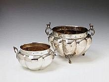 Two silver dishes. Unmarked, Bolivian/Peruvian, 19th C.
