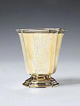 A Strasbourg silver gilt bell-form beaker. Marks of Nathaniel Jacob Horning, ca. 1780.