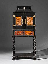 An inlaid Bohemian Eger cabinet.