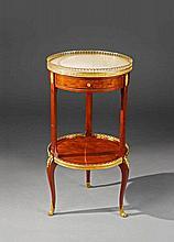 A Parisian ormolu mounted mahogany époque Louis XVI guéridon.