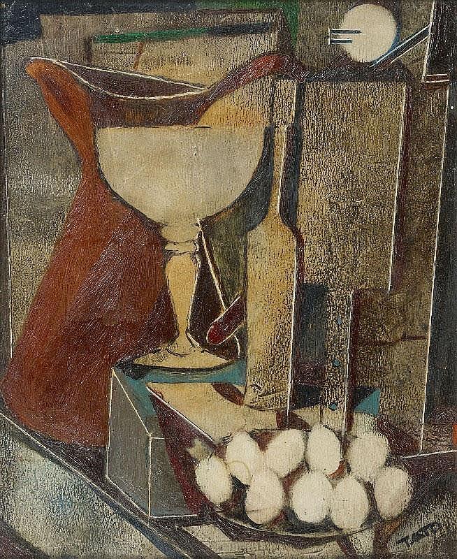 TATO (Guglielmo Sansoni), Natura (Stilleben mit Kanne und Glas), 1950s