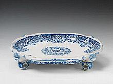 A Strasbourg faience table centrepiece with