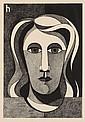 HEINRICH HOERLE, Frauenkopf (Trude Alex?), 1932