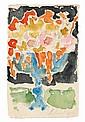 ALEXEJ VON JAWLENSKY, Orangefarbene Blumen in blauer Vase, 1927