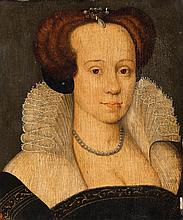 French School 16th century, Portrait of a Lady