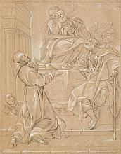 Italian School 17th century, The Holy Family Appearing before Saint Anthony