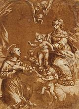 Italian School 17th century, The Virgin and Child Appearing before St. Anthony