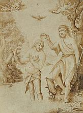 Flemish School early 17th century, The Baptism of Christ