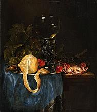 Pieter de Ring, Still Life with a Lemon, Rummer, Grapes, Cherries and Shellfish
