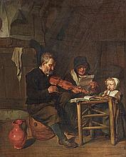 Gabriel Metsu, As the Old Sang, So the Young Pipe