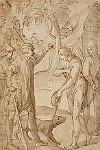 South German School ca. 1700, A Beggar and a Gentleman