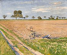 Max Clarenbach, A Landscape with Plough in the Summer