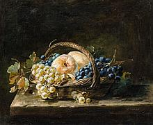 Pierre Nicolas Euler, A Still Life with a Basket of Fruits