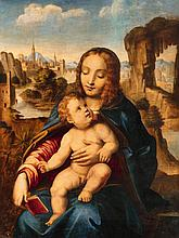 North Italian School early 16th century, Madonna with Child in a Rocky Landscape